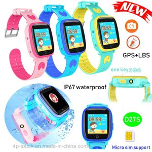 IP67 Waterproof Colorful Touch Screen Kids GPS Tracker Watch D27S