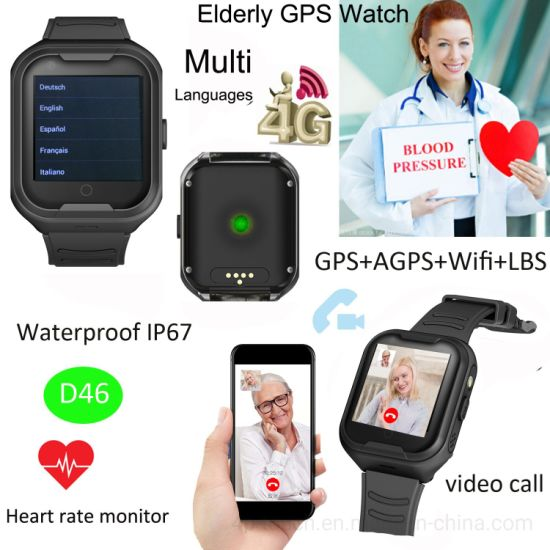 Waterproof Smart Phone Watch GPS with Heart Rate monitor D46