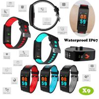 Three colors Smart Bracelet with Heart Rate&Blood Pressure Monitor X9