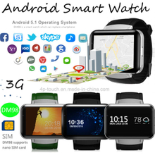 3G/WiFi Smart Watch Phone with 2.2inch Big Touch Screen DM98