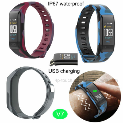 Hot Selling Bluetooth 4.0 Smart Bracelet with IP67 Waterproof V7