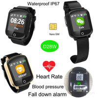 Elderly GPS Watch Tracker Mobile Watch Phone with precise positioning D28W