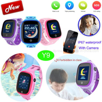 Kids IP67 waterproof GPS Smart GPS Tracker Watch with SOS call Y9