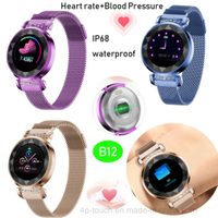 IP68 Waterproof Smart Bracelet with Blood Pressure measurement B12