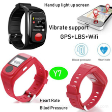 Multiple accurate positioning Senior GPS Tracking Bracelet with Blood Pressure monitor Y7