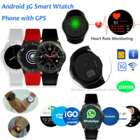 3G/WiFi Android Smart Watch with Multifunctions DM368
