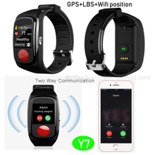 2019 Hot Sell health GPS Smart Bracelet with Geo-fence&smart alarm Y7