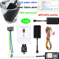 GPS Tracker for Motorcycle/Vehicle with Fuel Sensor and Overspeed Alarm (T108)