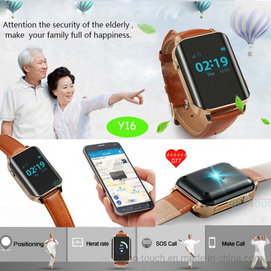GPS Watch with Heart Rate Monitor for Elderly/Pilgrim (Y16)