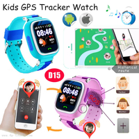 Splash waterproof Kids Smart GPS Tracking Watch Device with Google Map D15