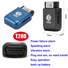 Easy Operation Obdii Car GPS Tracker with Vibration Alarm T206