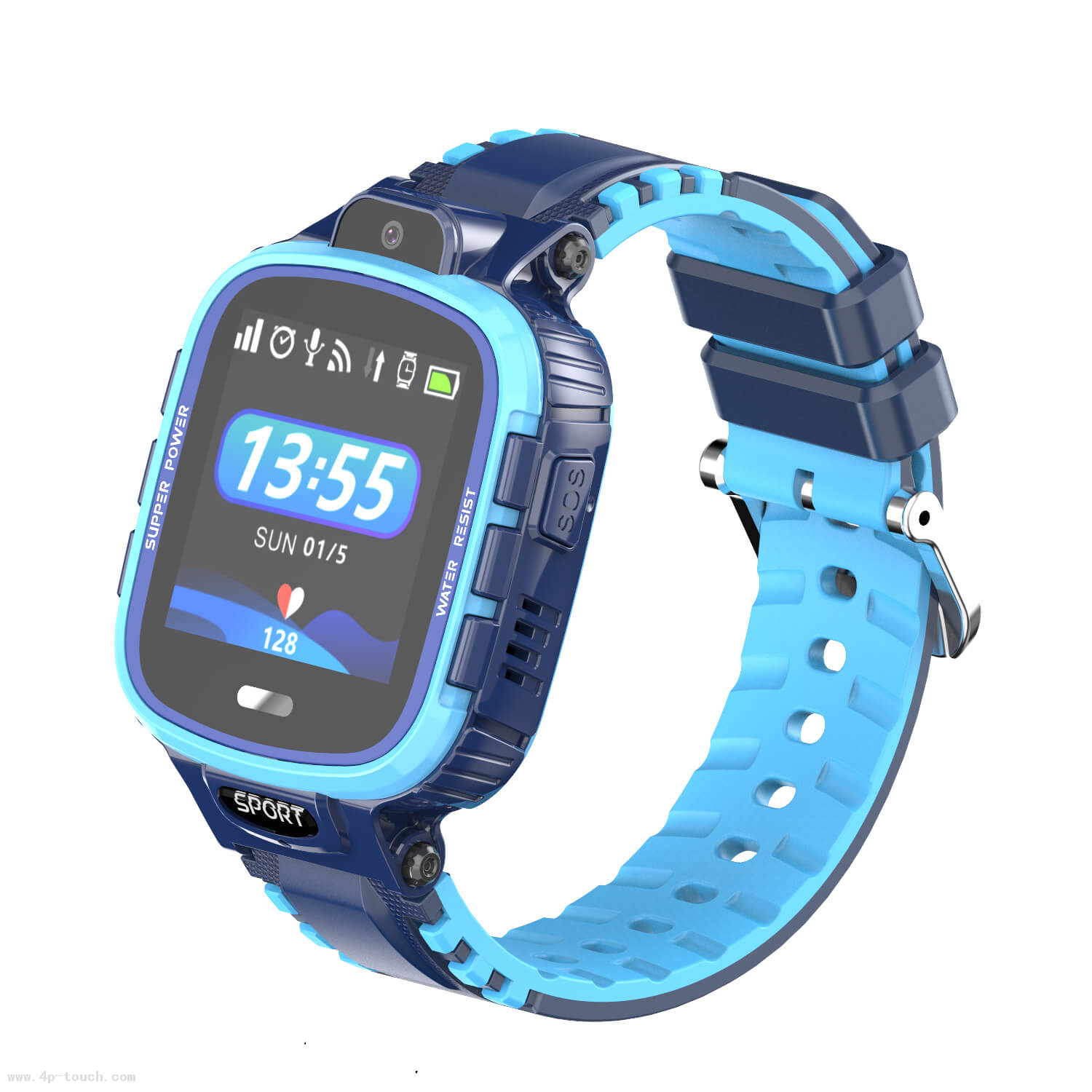 Ce Approved 500mAh elderly Smart Tracker Watch with Geo-Fence D13