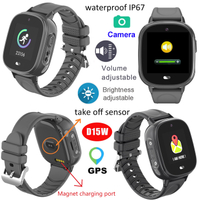 The Elderly GPS Tracker IP67 Waterproof Smart Watch D15W