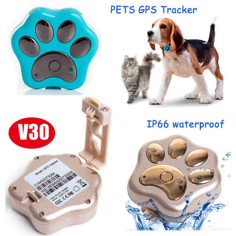 Mini Waterproof 2G Pet GPS Tracker with Geo-Fence (V30)