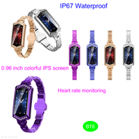 IP67 Waterproof Sport Heart Rate Bluetooth Bracelet Health Tracker BT8