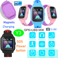 IP67 Waterproof Kids Smart Watch Phone GPS with RemoteCamera Y3