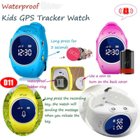 IP67 Waterproof GPS Tracking Watch Locator with multiple accurate positioning D11