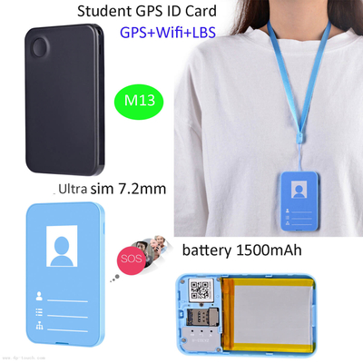 1500mAH Student ID Card GPS Tracker with multiple accurate positioning M13
