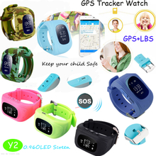 Colorful GPS Smart Watch Locator Device with Sos Button Y2