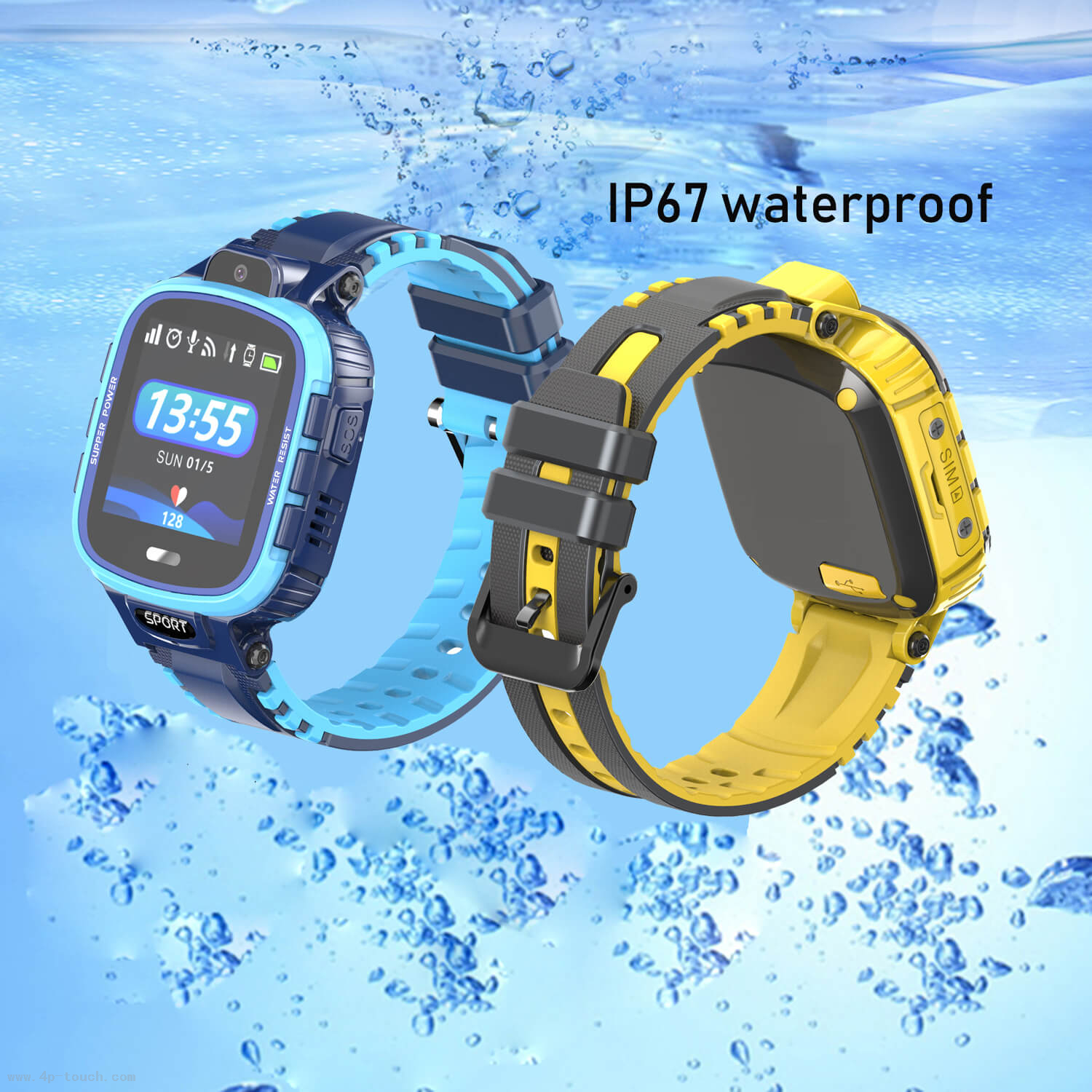 New IP67 Waterproof GPS Tracking Watch with Google-Map Real-Time Tracking D13G