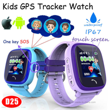 IP67 Real Waterproof Kids Smart Tracking Watch with Sos Panic Button D25