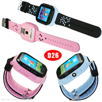 Three colors Smart GPS Tracking Watch with watch removal alarm D26