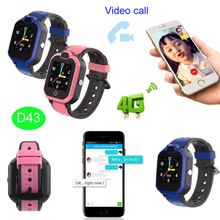 4G New Developed GPS Tracker Smart Watch Phone with Video Call D43