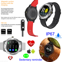 Round screen IP67 Waterproof Smart Bluetooth Bracelet for Adults with Blood Pressure Monitor S18