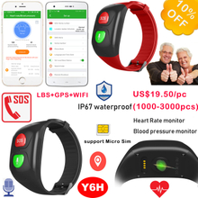 Elderly GPS Wristband Tracking with Heart Rate Monitor Y6H