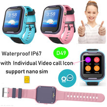 4G Waterproof IP67 Android 6.0 Kids GPS Tracker Watch D49