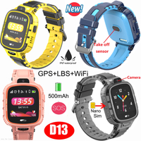Real-Waterproof GPS Tracker Smart Watch with Googlemap removal alarm D13
