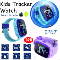 1.22inch Colorful Touch Screen Kids GPS Tracker Watch with Geo-Fence D25