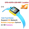 3G WCDMA Kids Tracker Watch with Real Map Location (D18)