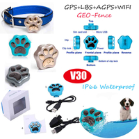 Hot Selling waterproof Fashion Pet GPS Tracker with long working hours V30