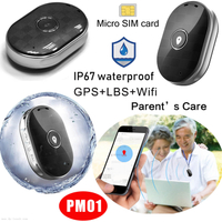 IP67 Waterproof Mini Pendant GPS Tracker with Sos Button PM01