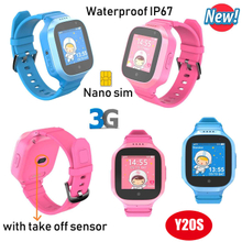 3G Waterproof multiple accurate positioning GPS Tracker Watch with Take off Sensor Y20s