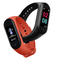 2020 waterproof New Style 0.96 Inch Color Screen Smart Bracelet Temperature Measuring M10