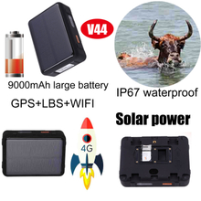 New Super Long Battery Life 4G Solar Powered GPS Tracker for Cow Sheep Cattle