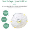 KN95 cup shape breathing face mask with filter/valve