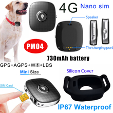 Waterproof Portable 4G Pet Mini Real Time GPS Tracker PM04
