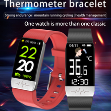 Smart Bracelet With Thermometer Body Temperature Monitoring blood oxygen spo2 Monitoring T1
