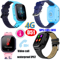 Video Call Wholesale 4G WiFi SIM Card Smart watch Thermometer GPS Watch D51