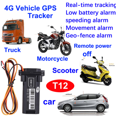 New Develpoed 4G Waterproof Vehicel/Motorcycle GPS Tracking Device with Remote Fuel Power off