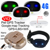 IP67 Waterproof Pet GPS Tracker with 4G Network V43
