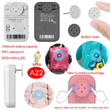 New launched 1000mAh Waterproof IP67 Mini hide GPS Tracker with button pin