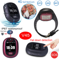4G gps tracker waterproof camara personal sos locator alarm long battery smartwatch gps tracking device V45