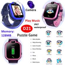 IP67 Waterproof Game Toy Music Play Smart Watch for Kids Children D21
